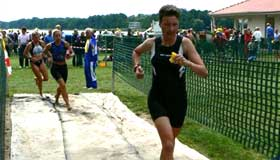 Katrin Burow beim Triathlon in Storkow 2007