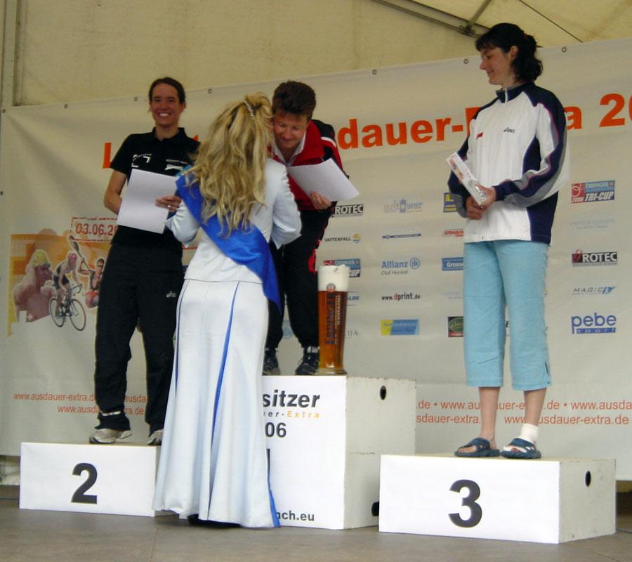 Siegerehrung Gesamtwertung Frauen Weltmeisterschaft Quadrathlon Sprintdistanz