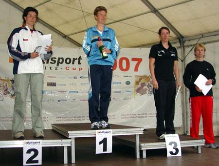 Siegerehrung Europameisterschaft Quadrathlon Sprintdistanz Frauen Gesamtwertung