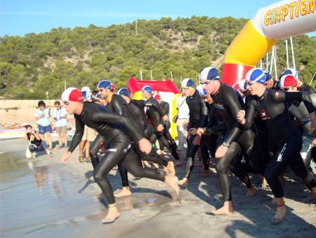 Start Weltcuprennen Quadrathlon Ibiza