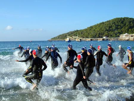 Schwimmen im Mittelmeer