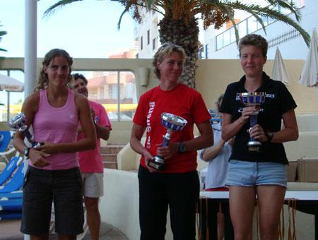 Siegerehrung Gesamtwertung Frauen Quadrathlon Weltcuprennen Ibiza
