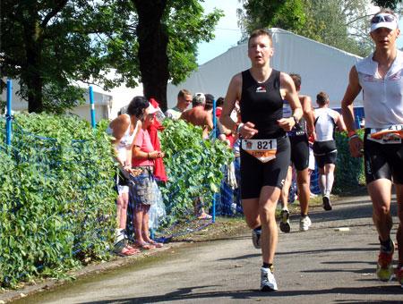Marathonlauf mit schweren Beinen