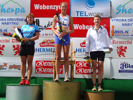 Siegerehrung Weltmeisterschaft Quadrathlon Mitteldistanz Sedlcany
