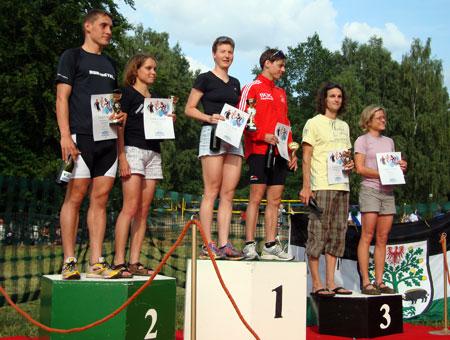 Siegerehrung Berlin-Brandenburger Meisterschaft Triathlon Mitteldistanz