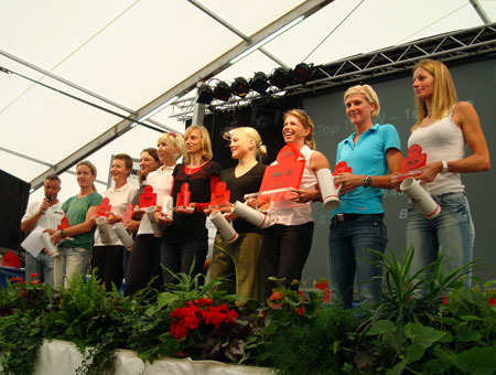 Siegerehrung TOP10 Frauen (Profis)