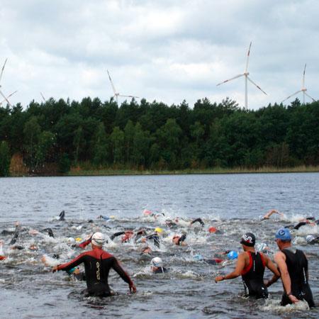 Schwimmstart Spreewald-Triathlon 2011