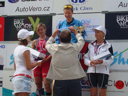 Siegerehrung Weltmeisterschaft Quadrathlon Mitteldistanz in Sedlcany / Tschechien 2012