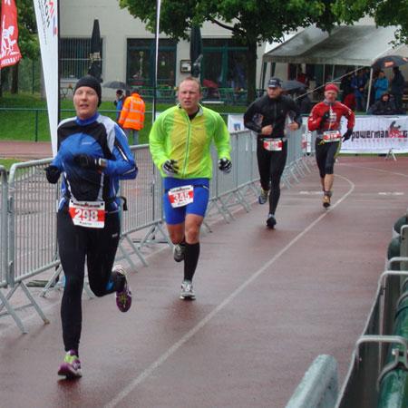 Katrin Burow auf der Laufstrecke in Falkenstein 2013