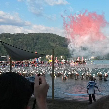 Schwimmstart beim IRONMAN Austria in Klagenfurt am 29.06.2014