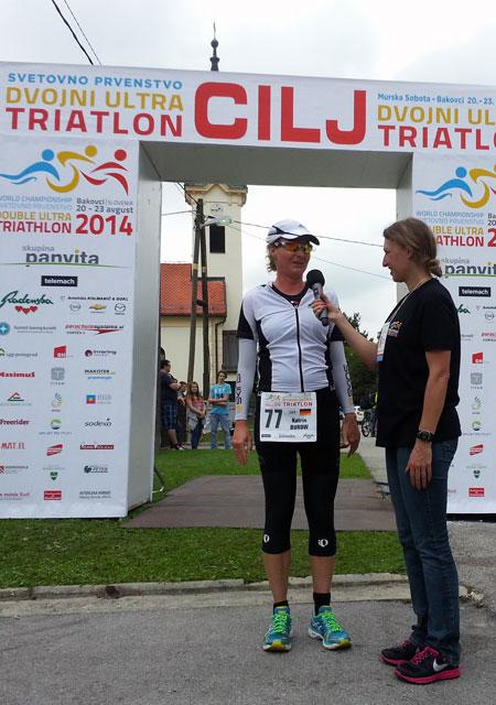 Geschafft: Katrin Burow wird Weltmeisterin bei der WM Double Ultra Triathlon in Slowenien 2014