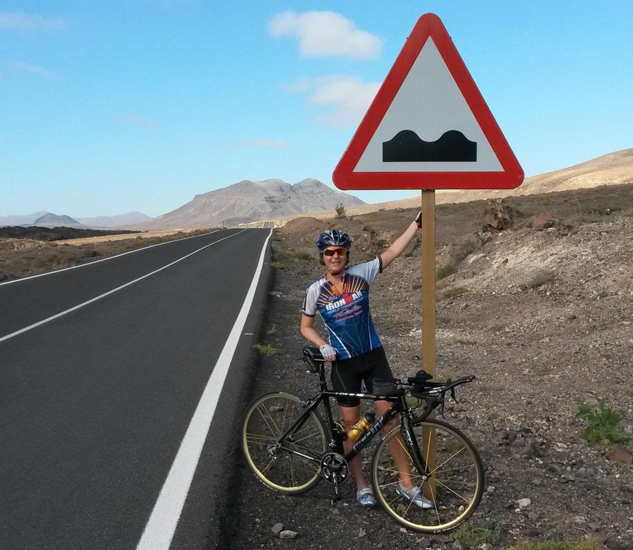 Katrin Burow beim Radtraining auf Fuerteventura