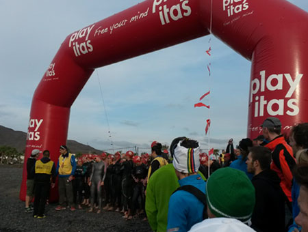 Schwimmstart Lighthouse Triathlon Las Playitas am 22.03.2014