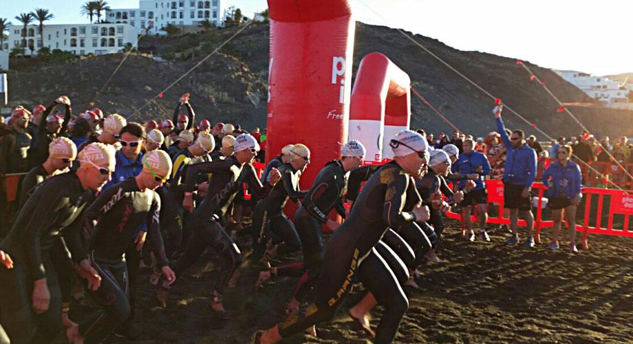 Schwimmstart beim Challenge Fuerteventura am 25.04.2015