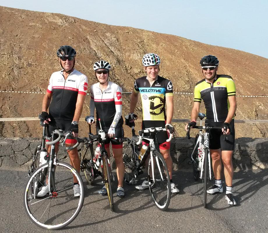 Betancuria 2015 - Radtraining mit Johan, Katrin, Travis und Mark