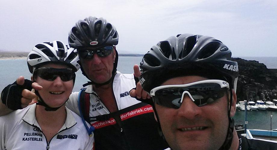 El Cotillo 2015 - Radtraining mit Katrin, Johan, und Mark