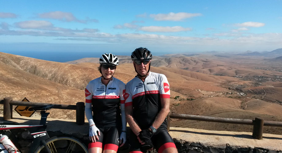 Katrin Burow und Johan Declercq beim Training auf Fuerteventura 2015