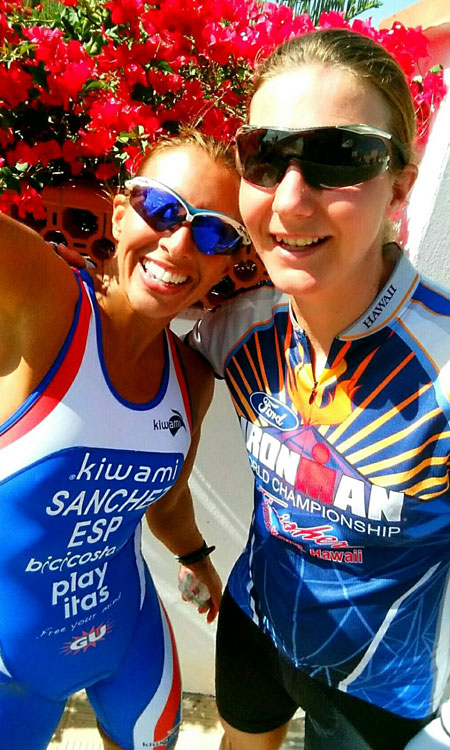 Katrin Burow und Monica Sanchez beim Training auf Fuerteventura 2015