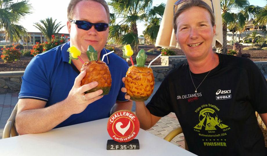 Falk und Katrin Burow nach der Siegerehrung des Challenge Fuerteventura 2015
