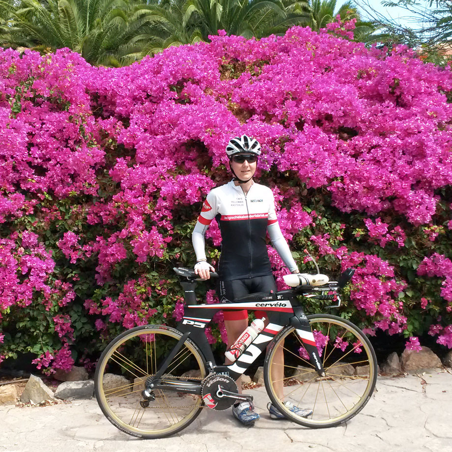 Katrin Burow beim Training auf Fuerteventura 2015
