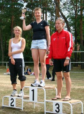 Katrin Burow gewinnt den Kallinchen Triathlon 2009