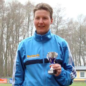 Katrin Burow gewinnt den Motzener Frühlingslauf 2010