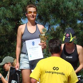 Katrin Burow gewinnt den Kallinchen Triathlon auf der Sprintdistanz 2012