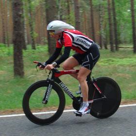 Katrin Burow gewinnt den Spreewald-Duathlon 2012 auf der Sprintdistanz