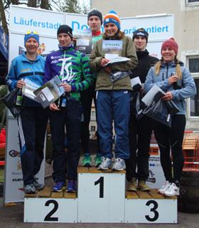 Katrin Burow belegt den 2. Platz beim Krebser Duathlon 2012 auf der Sprintdistanz