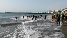 Katrin Burow belegt den 4. Platz beim Travesia a nado Circuito Vicente López in Gran Tarajal / Fuerteventura 2015