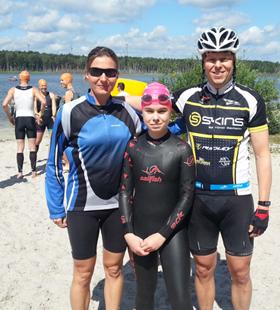 Katrin Burow beim Spreewald Triathlon 2016 in der Staffel am Start