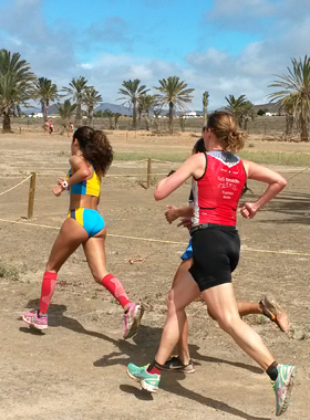 Katrin Burow belegt den 2. Platz beim Crosslauf in Gran Tarajal 2016