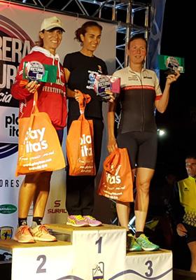 Katrin Burow belegt den 3. Platz beim Carrera Nocturna Gran Tarajal über 10 km am 10.06.2017