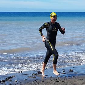 Katrin Burow belegt den 4. Platz beim 3 km Open Water Swimming Tarajalejo am 06.05.2017