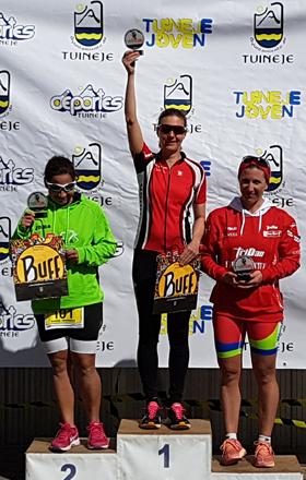 Katrin Burow Gesamtsiegerin beim Triathlon Gran Tarajal 2018