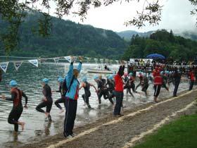 Schwimmstart bei der DM der Elite am Schliersee