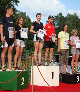 Katrin Burow wird Berlin-Brandenburger Meisterin im Triathlon auf der Mitteldistanz am Werbellinsee 2009