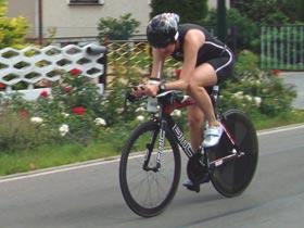 Katrin Burow gewinnt den Koschenberg Triathlon 2009