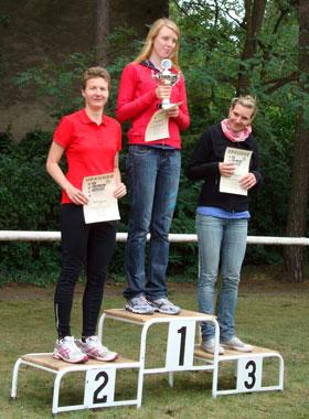 Katrin Burow belegt den 2. Platz in der Gesamtwertung aller Frauen beim Kallinchen Triathlon 2010
