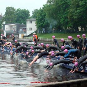 Schwimmstart DM Triathlon Darmstadt