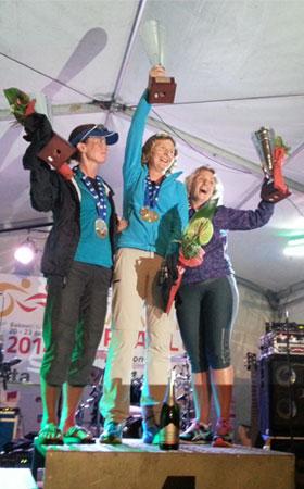 Katrin Burow wird Weltmeisterin bei der WM im Double Ultra Triathlon in Slowenien 2014