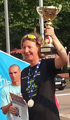 Katrin Burow wird Weltmeisterin im Triple Ultra Triathlon in Lensahn 2014