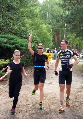 3. Platz beim Spreewald Triathlon 2016 in der Staffel