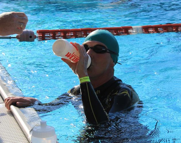 11,4 km Schwimmen bei der Weltmeisterschaft im Triple Ultra Triathlon in Bad Blumau 2017